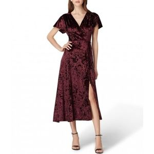NWT Tahari Port Crushed Velvet Wrap Dress